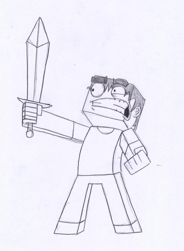 Minecraft Steve Drawing By The Joven Art On Deviantart