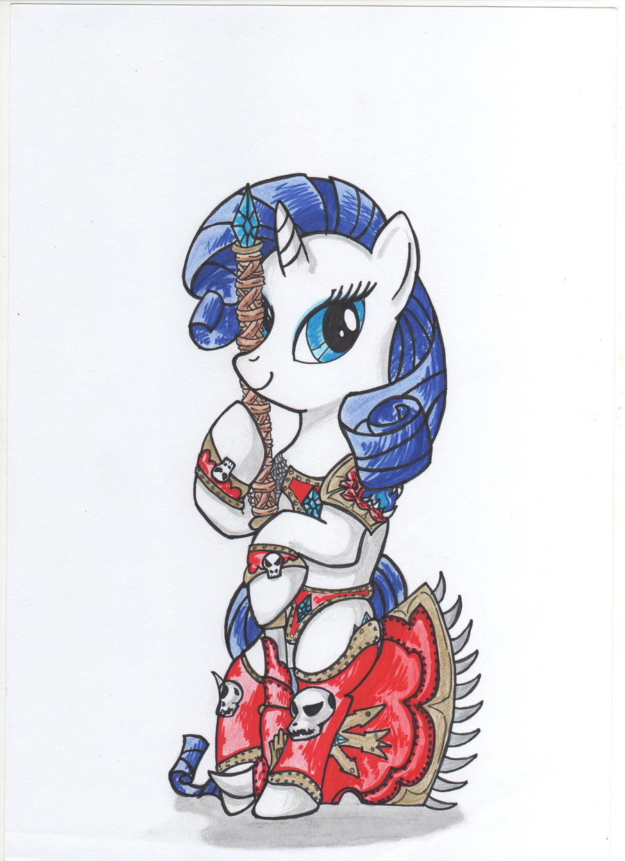 Rarity as Khorne berserker by Silriandhir on DeviantArt