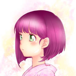 Coloring Cute Girl [by Kyaru9]