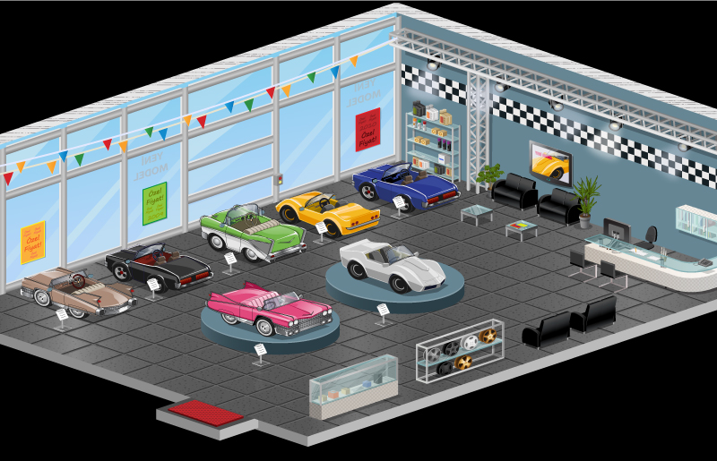 car showroom interior by AgataWiejak on DeviantArt
