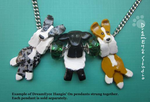 DreamEyce Studio Border Collies with Sheep Pendant