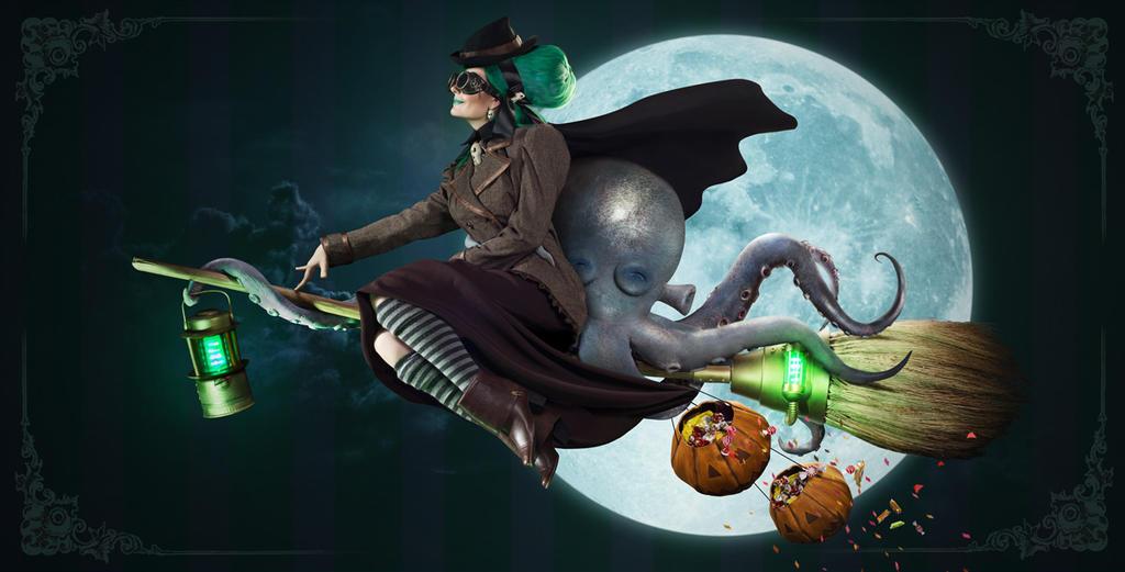 Otto and Victoria(Halloween) by AnnetVoronaya