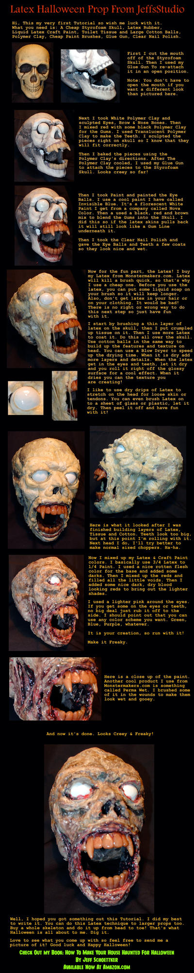 Halloween Latex Head How 2 by JeffsStudio
