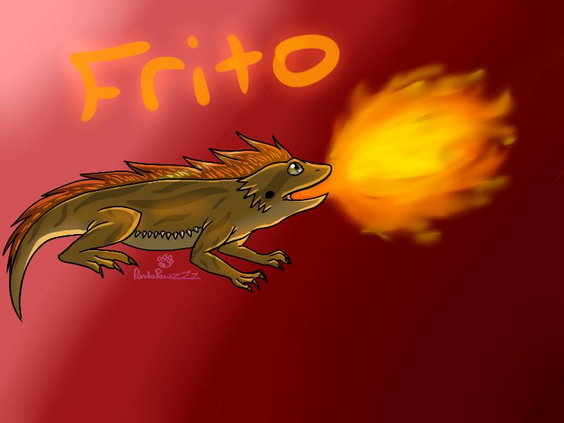 Frito The Bearded Dragon by PandaPawzZz