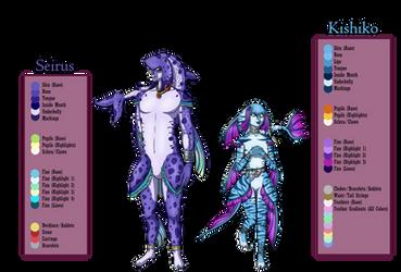 Kishiko and Seirus (Zora OCs)