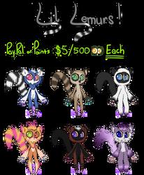 [OPEN 6/6] Lil Lemurs Adoptables 1