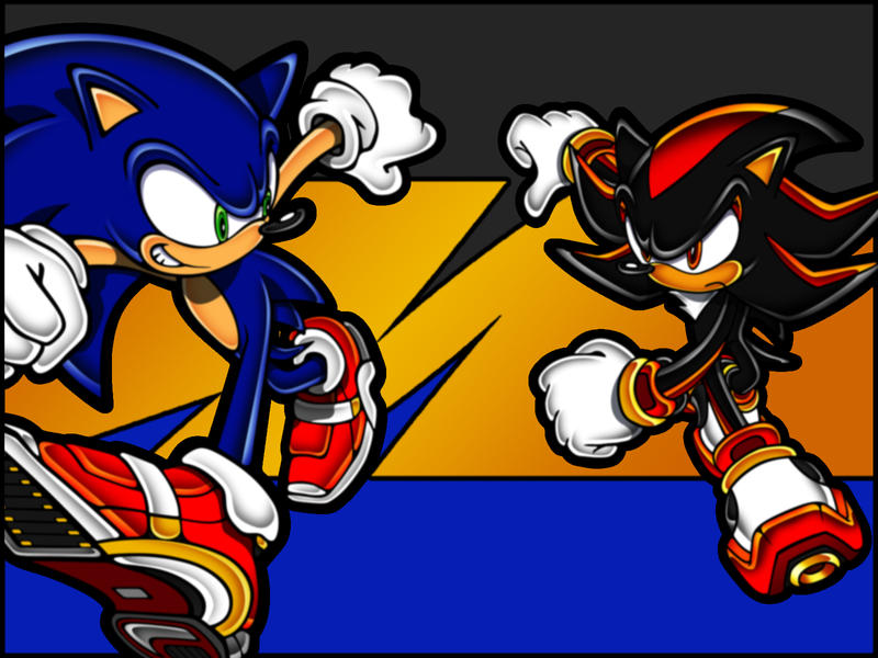 shadow wallpaper. Sonic Vs Shadow Wallpaper by