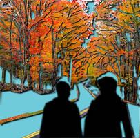 Autumn Road by danglingdingle