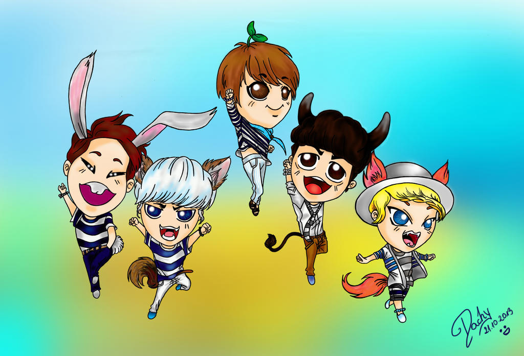 Chibi Shinee by Michael1525