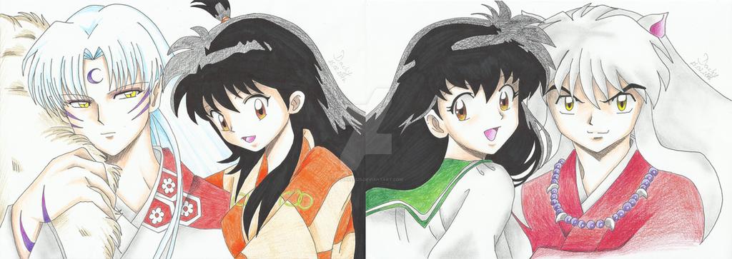 Lord Sesshomaru X Rin And Kagome X Inuyasha By Michael1525 On Deviantart
