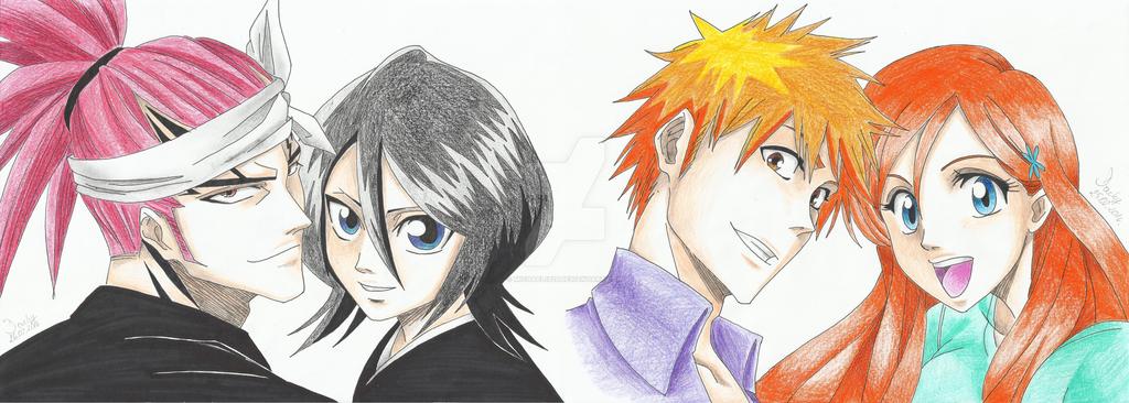 Renji x Rukia and Ichigo x Orihime by Michael1525 on ...Ichigo X Renji