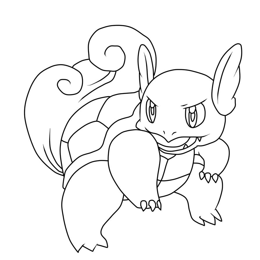 pokemon wartortle coloring pages - photo#13