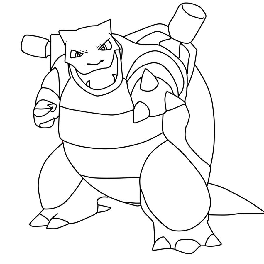 Blastoise coloring pages for Pokemon coloring pages blastoise