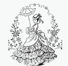 Victorian transfer for embrodiery. by Delice1941