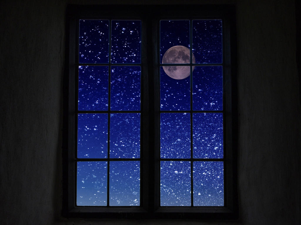Moon-through-the-window by D-A-Skelly