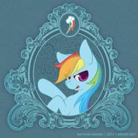 Vintage Ponies   Rainbow Dash