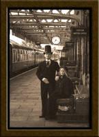 Victorian train station-Sepia by badmojo