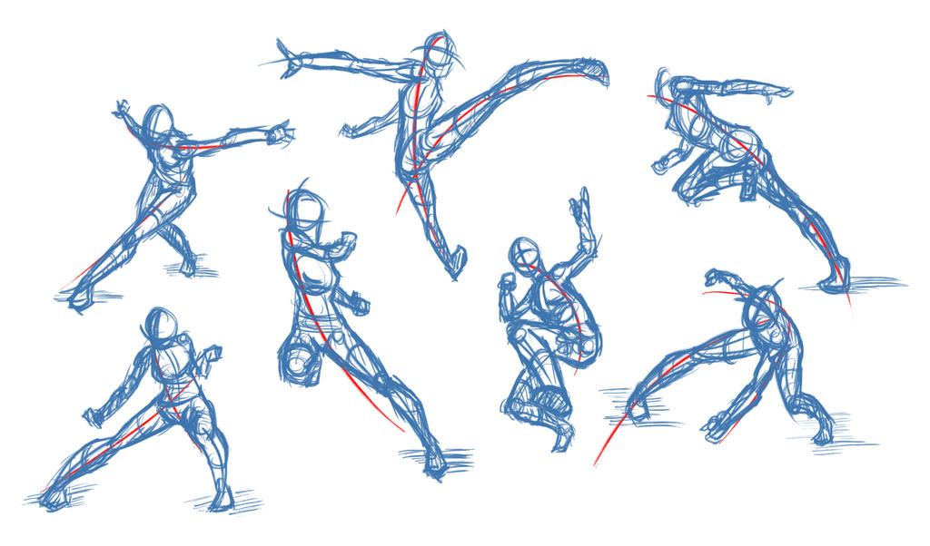 Line Art Action Photo : Line of action practice by patchy on deviantart
