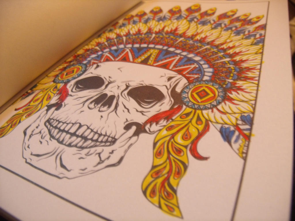 coloring with skulls by Foreigner227