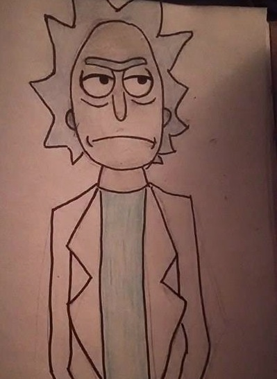 Rick from Rick and Morty by Foreigner227