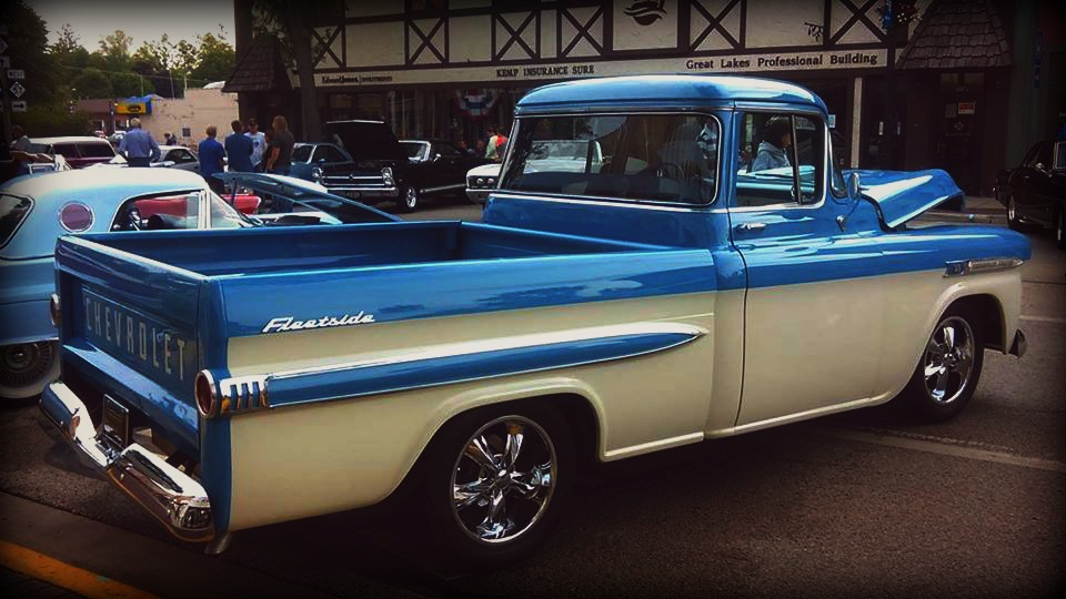blue and white chevy by Foreigner227