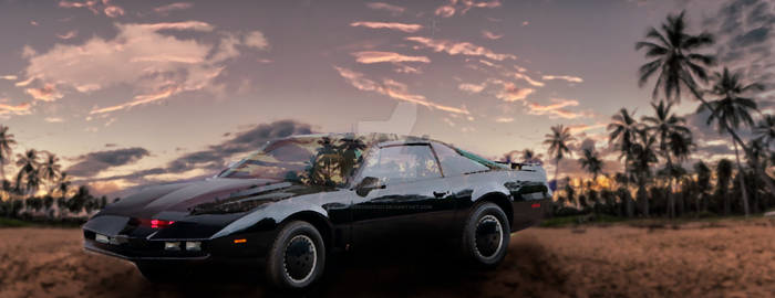 Kitt under the California sky