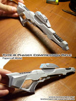 Phaser Rifle Papercraft- Final by shrakner