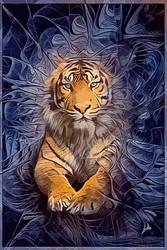 Tigers fractal-PopArt