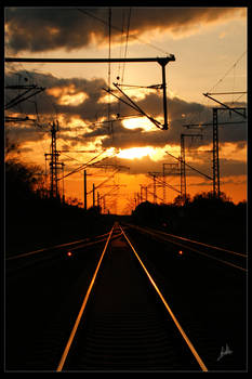 Train in the Sun up.