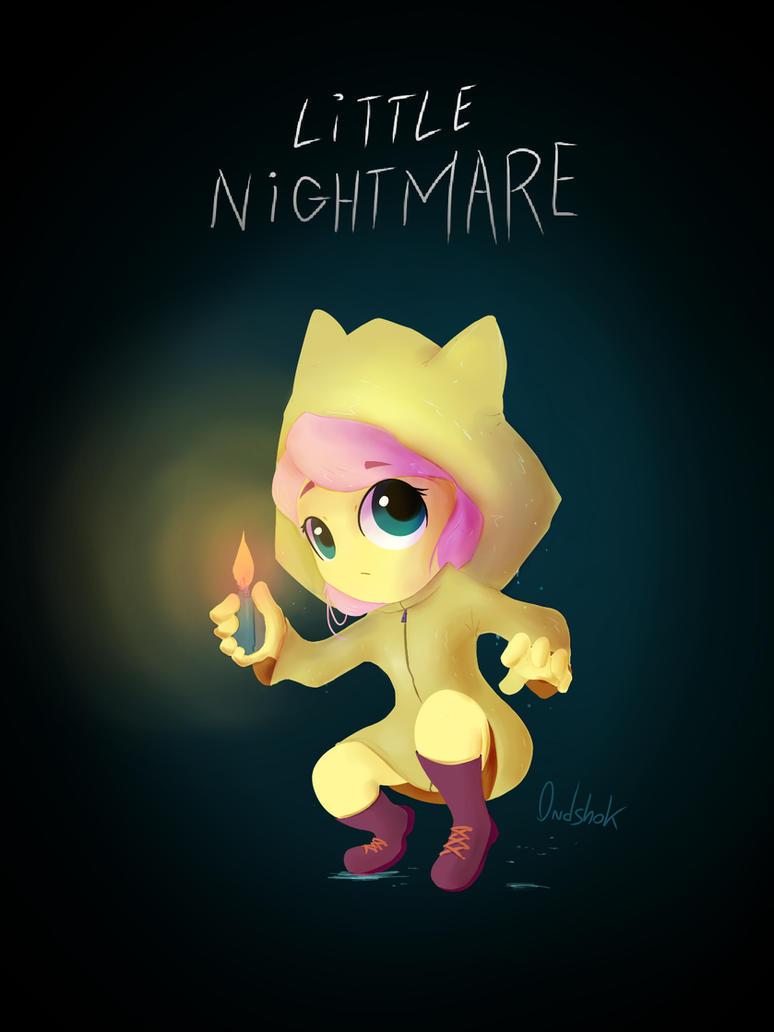 Little Nightmare Fluttershy by 0ndshok