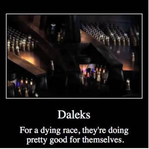 Daleks motivational poster