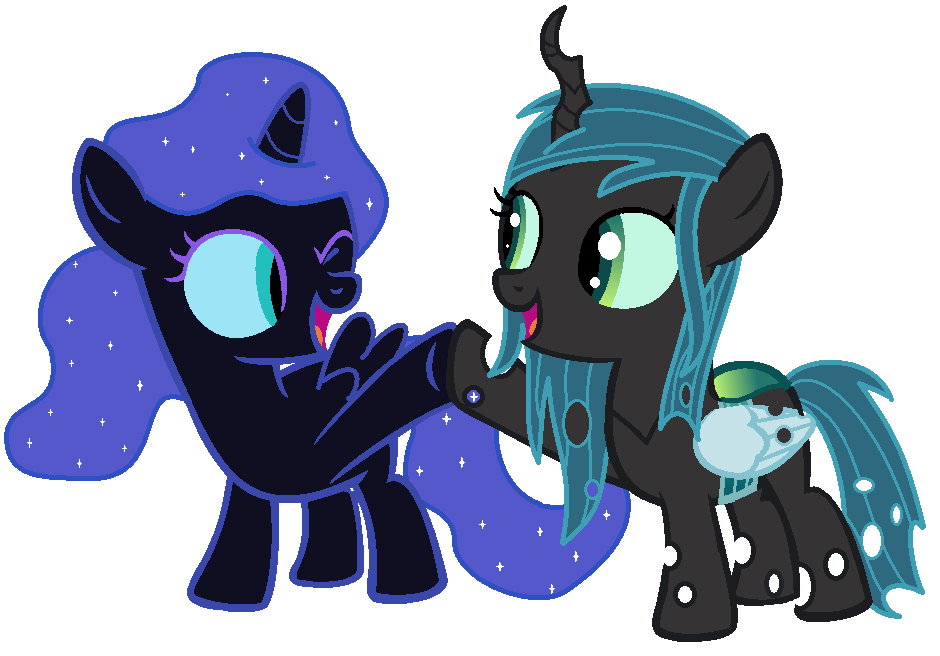 Mlp Filly Nightmare Moon And Chrysalis by Lisa1700 on ...