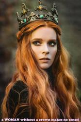 a WOMAN without a crown makes no sense!