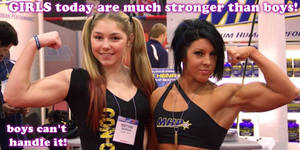 GIRLS are stronger than boys!