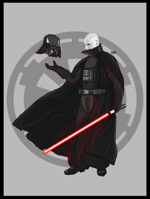 Darth Vader unmasked by CaptainFurious on DeviantArt