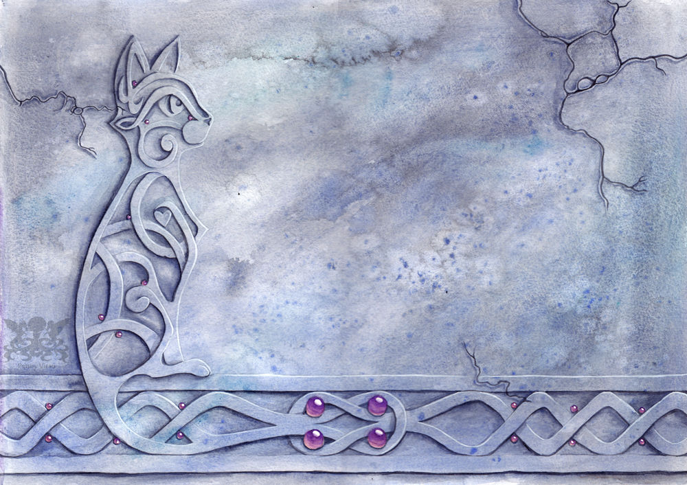 Celtic Knot Work Cat By Penny Dragon On