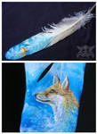 Fox Feather painting