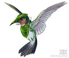 Leafmen's hummingbird by Penny-Dragon