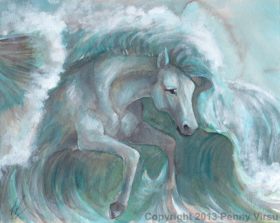 water horse by pennydragon on deviantart