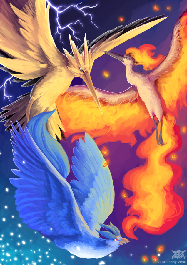 Legendary Birds by Penny-Dragon on DeviantArt