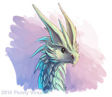 Candy floss dragon by Penny-Dragon