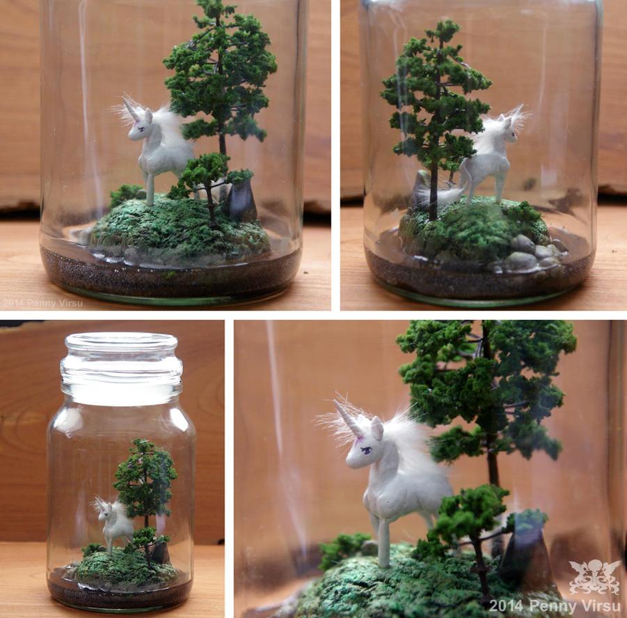 Unicorn in a Bottle by Penny-Dragon