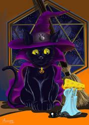Halloween Black Cat by Alsheeny