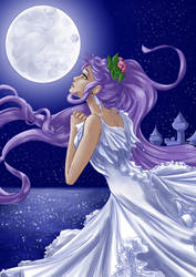 Whispering secrets to the moon by Alsheeny