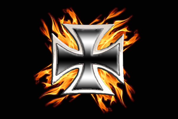 Flaming Iron Cross Real Flame By Mmagoo