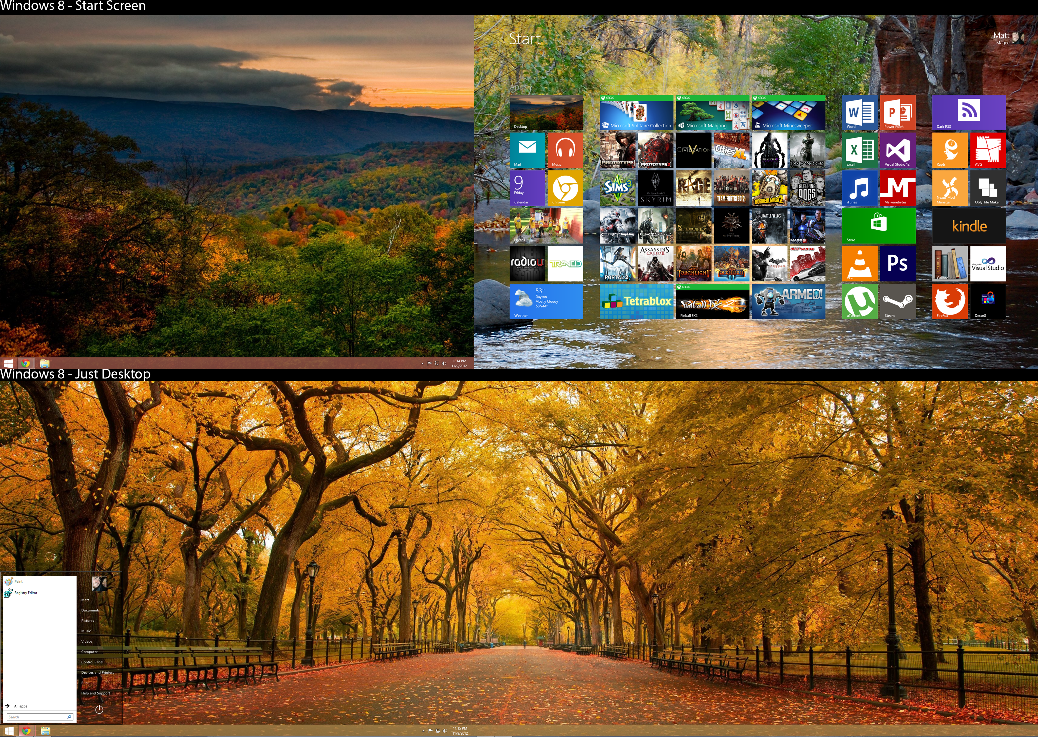 November Desktop Screen 2012 (Windows 8)