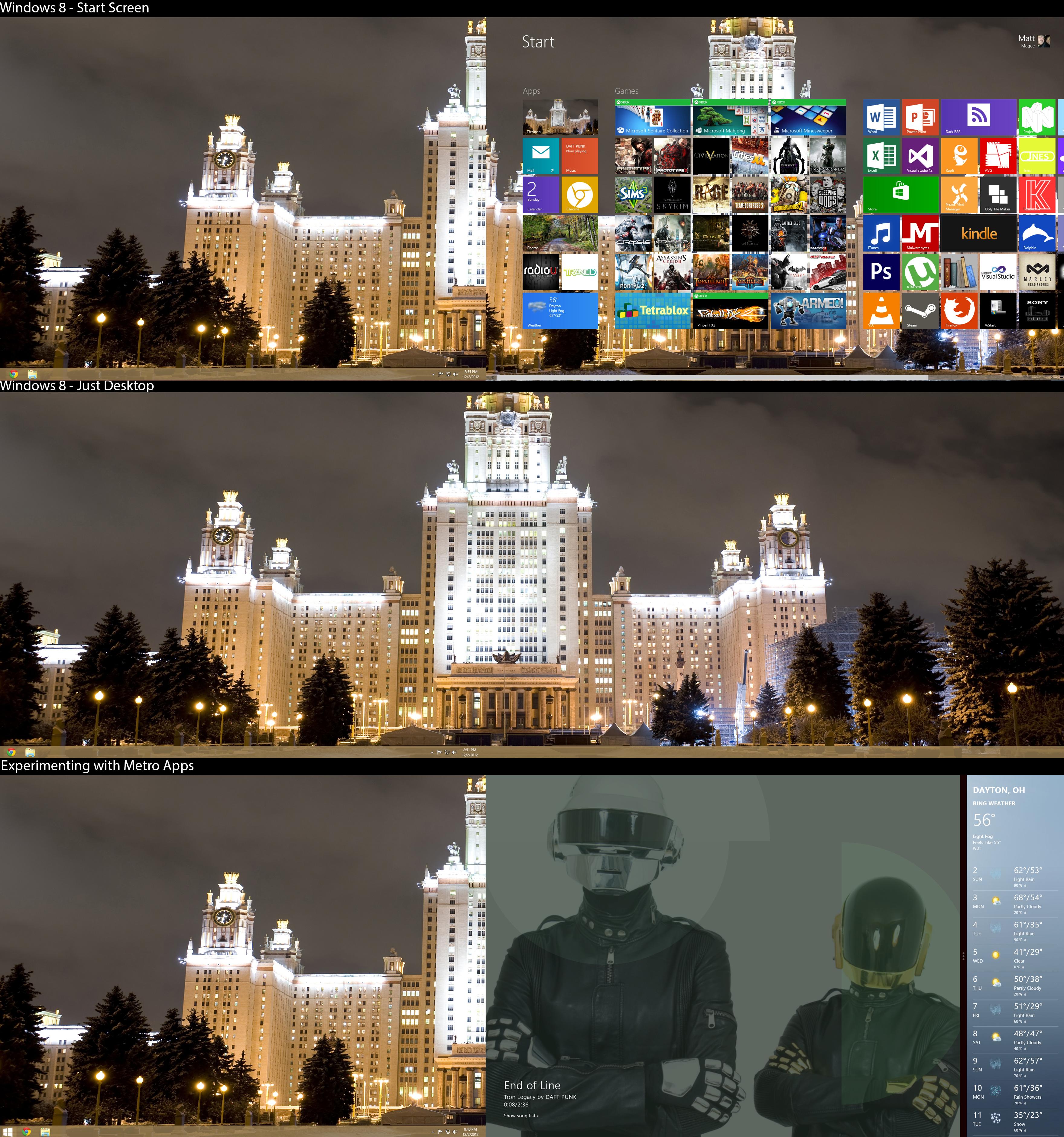 Desktop for December 2012 (Windows 8)