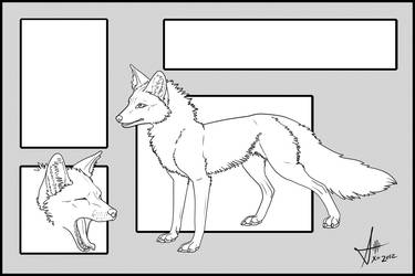 Fox: Free to use Refsheet Template by Xio