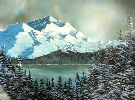 Winter at the Lake by molecularart
