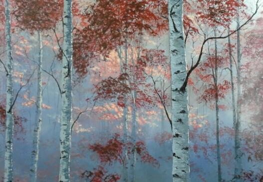 Morning in a Birch Forest by molecularart